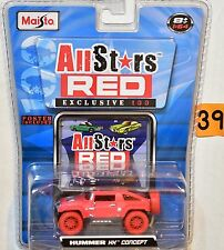 MAISTO ALLSTARS RED EXCLUSIVE 100 HUMMER HX CONCEPT CHASE 1:64