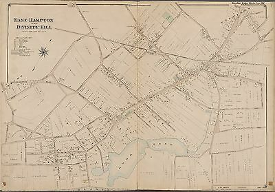 QUOGUE SUFFOLK 1902 GOOD GROUND EAST QUOGUE LONG ISLAND NY COPY ATLAS MAP