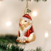 Old World Christmas Christmas Ham Pig Farm Animal Glass Christmas Ornament 12130