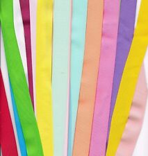 25 yds 7/8 inch grosgrain ribbon 1 yard of 25 colors  all solid girlie colors