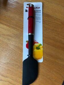 Kitchenaid Silicone Scraper Spatula Black Red New With