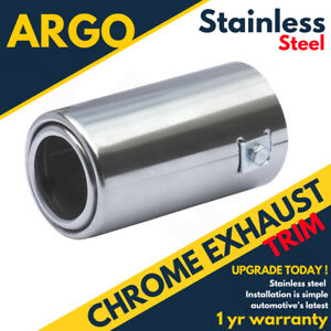 Chrome-Polished-Alloy-Exhaust-Tailpipe-Tip-Trim-End-Muffler-Finisher-Sport-Cover