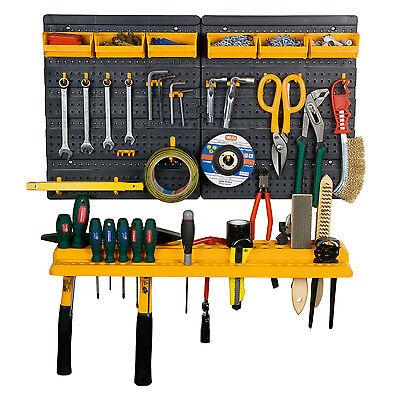 Garage Tool Rack Wall Kit Mini Storage Tools Organizer Home DIY Panel BiGDUG