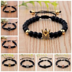 CZ-Crown-Bracelets-Gift-Natrual-Lava-Stone-Beads-Macrame-Bracelets-Men-Jewellery