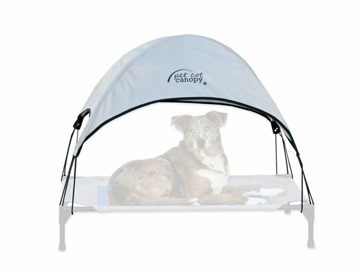 Large Pet Cot Canopy For Dogs & Cats, Outdoor Indoor in Grey