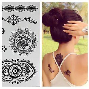 Temporaere-Flash-Tattoos-schwarz-Ornamente-Tribals-sexy-temporary-Tattoo-W-299