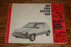 1989 ford festiva electrical vacuum troubleshooting manual wiring rh ebay ca 1991 Ford Festiva Wiring-Diagram 1993 Ford Festiva Wiring-Diagram