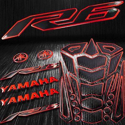 "4PCs Chromed Fuel Tank Pad+6/""Decal 3D Logo+Letter+for YZF-R1//R1S Emblem Sticker"