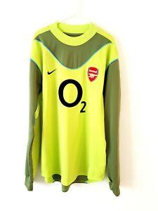 Arsenal-Goalkeeper-Shirt-2003-Medium-Nike-Green-Adults-Football-Top-Only-Kit
