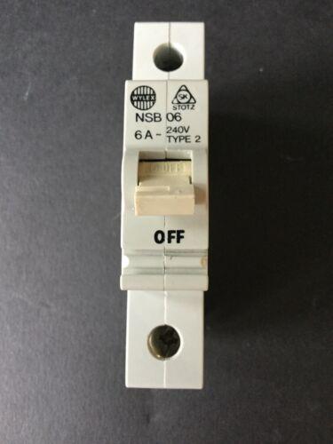 Wylex Stotz NSB Series Type 2 NSB06 NSB16 NSB32 NSB40 MCB
