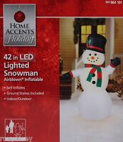 Christmas Home Accent Holiday 42 In Lighted Snowman Airblown Inflatable Toys