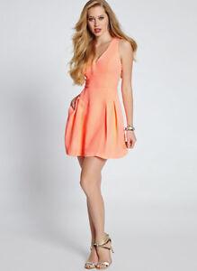 Nwt Guess 118 Sleeveless Cutout Back Dress Coral Pink