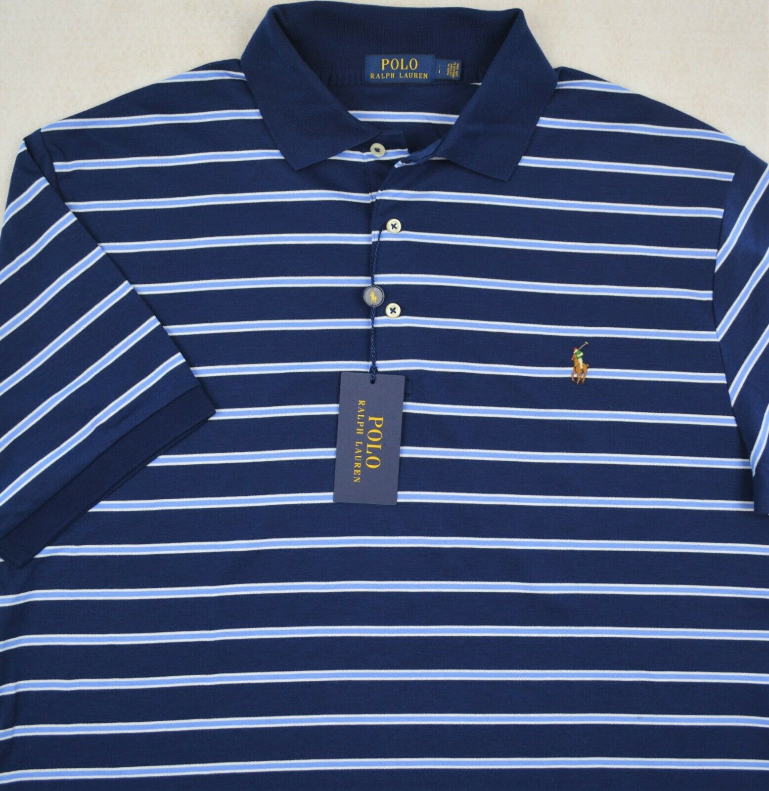 Polo Ralph Lauren Shirt Soft Touch Stripe Polo 4XB 4X NWT