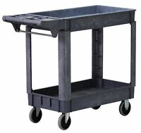 500 Pound Service Rolling Storage Cart Kitchen Utility Wheeled Shelf Trolley
