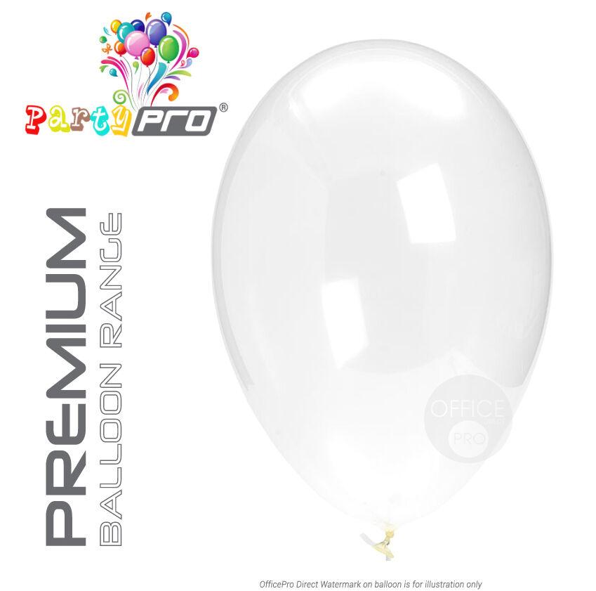 Partypro ® - clear (transparent) - 10  12  Premium Látex Globos De Fiesta De Cumpleaños