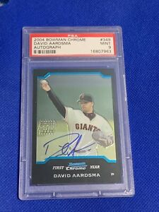 2004-Bowman-Chrome-Autographs-David-Aardsma-Giants-349-PSA-9-MINT-Rookie-Card