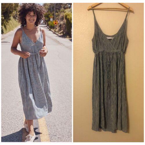 Christy Dawn Lincoln Dress Lapis Gingham Size XL *