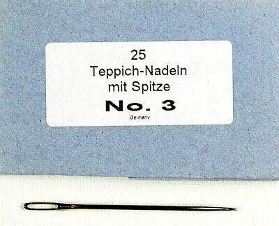 1 mit Spitze 25 Teppichnadeln Nr