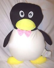 "Snow Foam Micro Beads 16""-18"" Japanese Black Penguin Cushion Pillow-New"