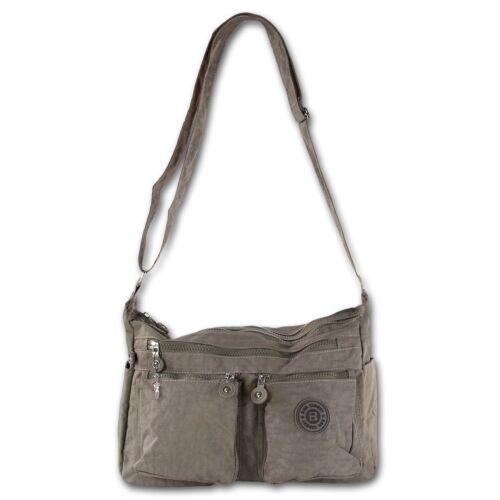 Crossover borsa tracolla Beige Stone in nylon da donna a tracolla otj231l