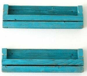 huge selection of 7fa4f 427c9 Details about Turquoise Slatted Bookshelf Set 24''