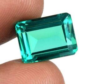 Emerald Cut 8.75 Ct Colombian Emerald Gemstone 100% Natural AGI Certified A25291