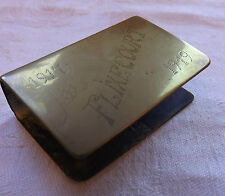 Military WW1 Trench Art Vesta Matchbox Holder 3rd Area Signals  F.Masters (1126)