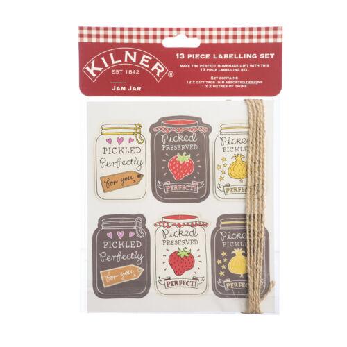 0025.802 Jam Jar Tag étiquette Set 13 pièces Home Made préserver Chutney Pickle