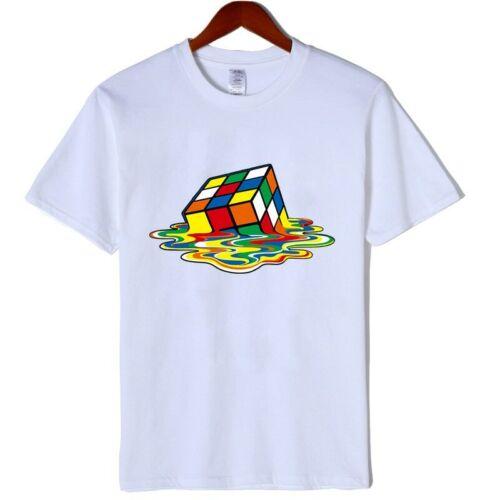 High quality fashion TShirt Men Magic Square design tshirts Short sleeve Men