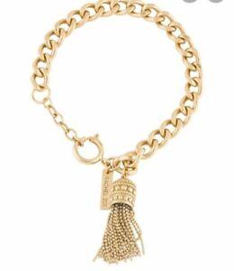 NEW-Rachel-Zoe-Tassel-Gold-Tone-Chain-Bracelet