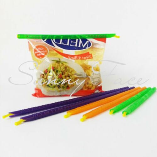 8pc 4 Size Kitchen Storage Bag Clip Fresh Food Seal Stick Zip Organizer