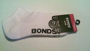 Bonds-Womens-Active-Socks-White-Size-3-8-Sportlet-ONE-PAIR-Cotton-Nylon-Elastane