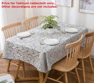 Autumn Vine Damask 60 x 120 Inch Oblong Tablecloth in Mushroom