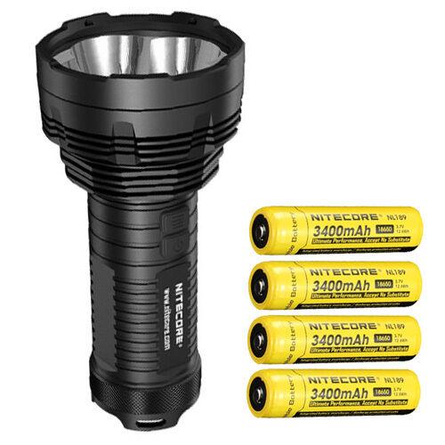 Bundle  Nitecore TM16GT Flashlight CREE XP-L HI V3 LED w 4x NL189