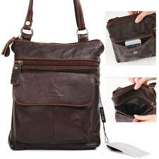 New Men's Genuine Leather Shoulder Crossbag Messenger Bag Purse (B-046)