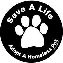 Adopt A Homeless Pet Circle Magnet