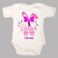 First 1st Easter Personalised Baby Grow Body Suit Vest Bunny Ears Pink Blue Gift