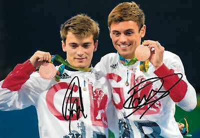 Other Olympic Memorabilia Olympic Memorabilia Honest Tom Daley Daniel Goodfellow With Bronze Medals Rio 2016 Signed 12x8 Photo Proof Activating Blood Circulation And Strengthening Sinews And Bones
