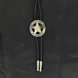 M&F Western Mens Bolo Neck Tie Texas Ranger Star Silver 2230836