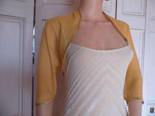 Gold Coude Longueur Mousseline Mariage Soirée Shrug Bolero Wrap Jacket