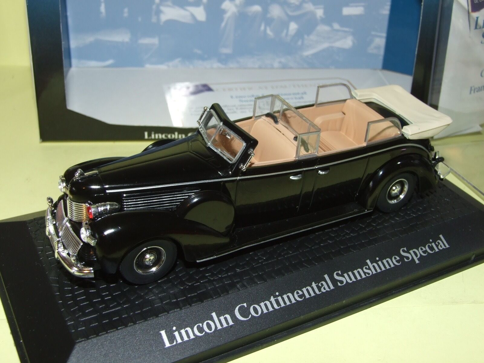 LINCOLN CONTINENTAL SUNSHINE SPECIAL ROOSEVELT 1945 chef d'état ATLAS 1 43