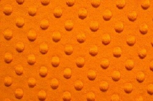 """MINKY DIMPLE DOT FABRIC ORANGE 60/"""" WIDTH SOFT BABY SEW SOLD BY 3 YARDS FREE SHIP"""