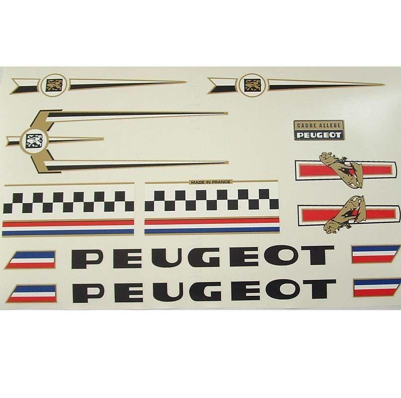 Peugeot complete set of decals vintage