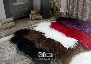 Image Is Loading Faux Fur Sheepskin Rugs Non Slip Bedroom