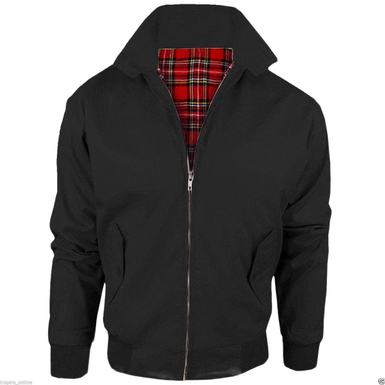 Black / Harrington Jacket Heritage Trendy Fashion