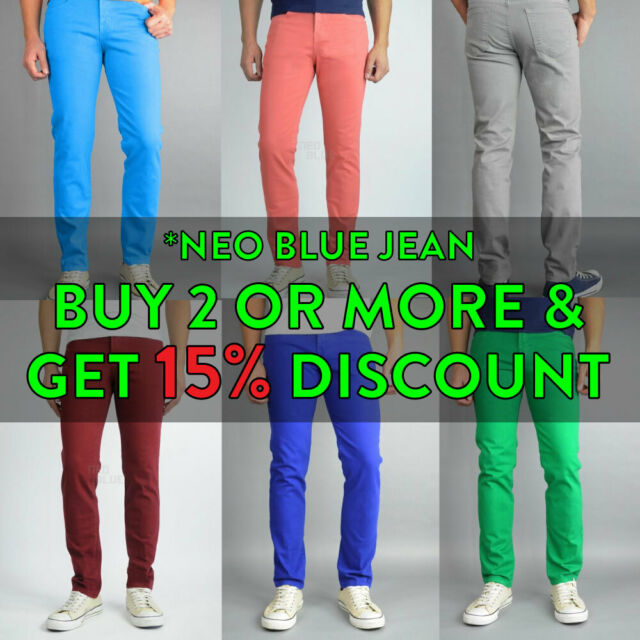 New Men/'s ROYAL JEANS Denim Design Regular Straight Fit Pants