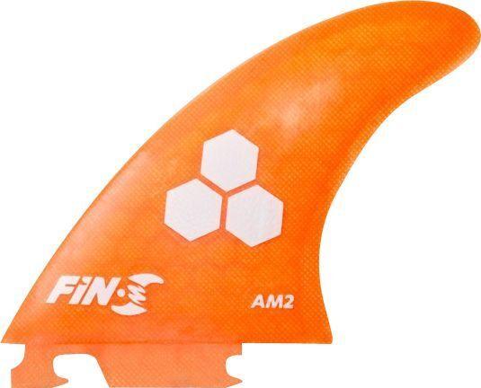 Fin-S Am-2 Honeycomb Neon orange 3 Fins Surfboard FIN - 3PCS SET