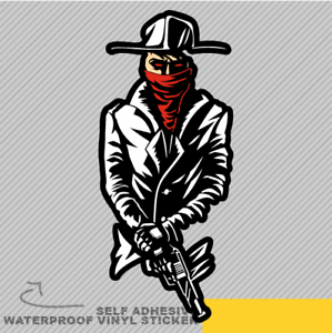 Gangster Gun Hand Mafia Vinyl Sticker Decal Window Car Van Bike 2647
