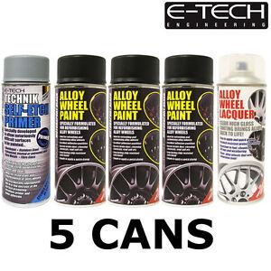 motorsport black 1x lacquer 1x etch primer car alloy wheel spray paint. Black Bedroom Furniture Sets. Home Design Ideas