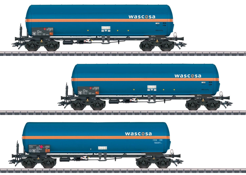 Märklin 48488 Set con 3 Vagón Cisterna de Presión Gas Zags y Zagkks